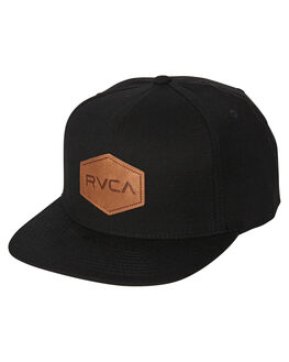 BLACK MENS ACCESSORIES RVCA HEADWEAR - R381562BBLK