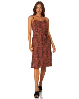 BROWN  RUST WOMENS CLOTHING MINKPINK DRESSES - MP1904460BRW