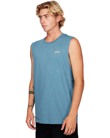 CHINA BLUE MENS CLOTHING RVCA SINGLETS - RV-R192009-CNU