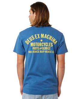 DARK BLUE MARLE MENS CLOTHING DEUS EX MACHINA TEES - DMS81697BDKBLU