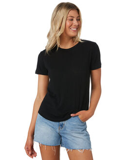 BLACK WOMENS CLOTHING SWELL TEES - S8201014BLK