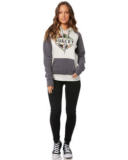 GREY HEATHER WOMENS CLOTHING HURLEY JUMPERS - AGFLFLRL05A