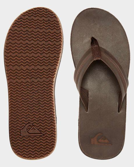 BROWN BROWN BROWN MENS FOOTWEAR QUIKSILVER THONGS - AQYL101088-XCCC
