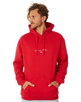BRIGHT RED MENS CLOTHING STUSSY JUMPERS - ST087200BRED