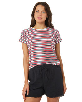 RED STRIPE OUTLET WOMENS SILENT THEORY TEES - 6085039RED