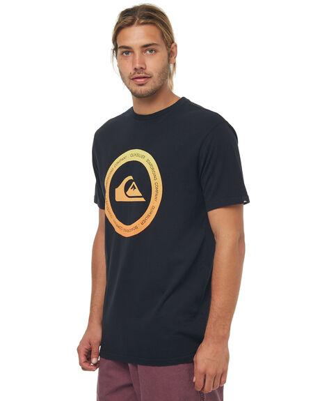 BLACK MENS CLOTHING QUIKSILVER TEES - EQYZT04891KVJ0