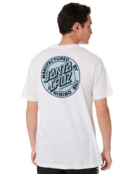 WHITE MENS CLOTHING SANTA CRUZ TEES - SC-MTC0643WHT