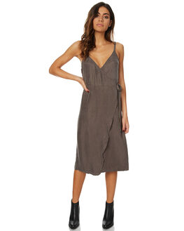 OLIVE WOMENS CLOTHING THE HIDDEN WAY DRESSES - H8173445OLV