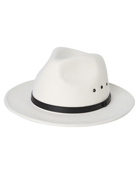 WHITE MENS ACCESSORIES BILLY BONES CLUB HEADWEAR - BBCFED013WHT