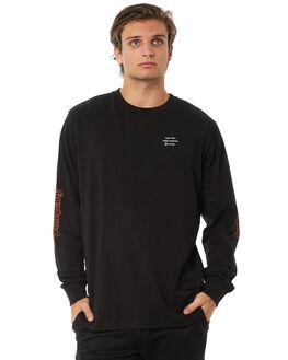 BLACK MENS CLOTHING THRILLS TEES - TA8-142BBLK