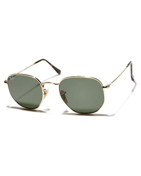 513b64f5ad8b Ray-Ban Hexagonal Flat Lens 51 Sunglasses - Gold Green | SurfStitch