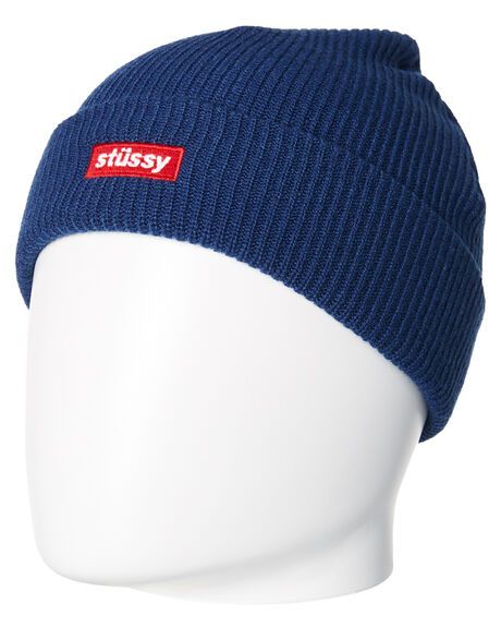 NAVY MENS ACCESSORIES STUSSY HEADWEAR - ST787005NVY