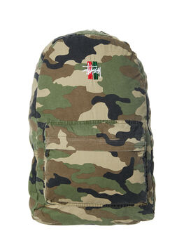 CAMO MENS ACCESSORIES STUSSY BAGS + BACKPACKS - ST773029CAMO