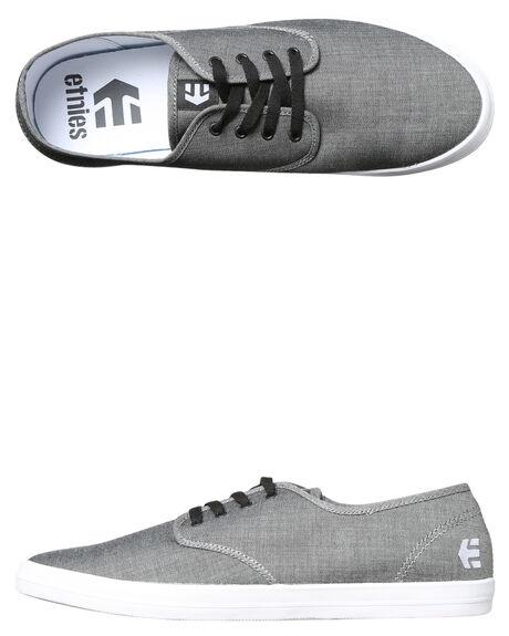 DARK GREY BLACK MENS FOOTWEAR ETNIES SNEAKERS - 4107000294-022
