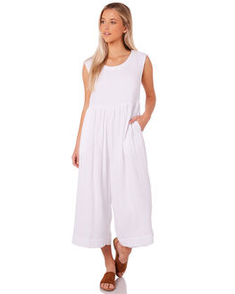 WHITE WOMENS CLOTHING SAINT HELENA PLAYSUITS + OVERALLS - SH2A207-WHT
