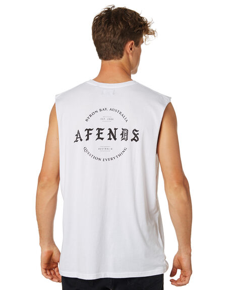 WHITE MENS CLOTHING AFENDS SINGLETS - M183082WHT