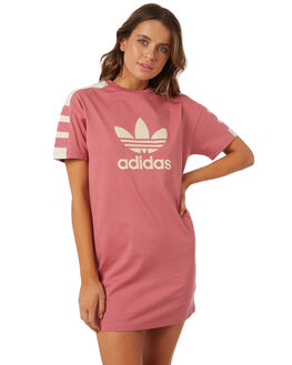 TRACE MAROON WOMENS CLOTHING ADIDAS DRESSES - DH4181TRA