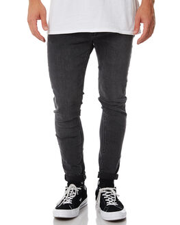 REBEL BLACK MENS CLOTHING A.BRAND JEANS - 811233636