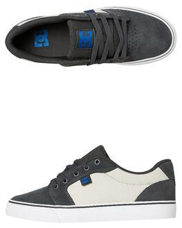 GREY BLUE MENS FOOTWEAR DC SHOES SNEAKERS - 303190GBF