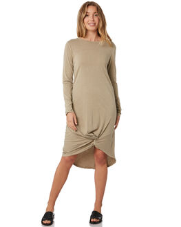 TAN WOMENS CLOTHING SILENT THEORY DRESSES - 6015011TAN