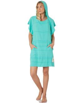 SEA GREEN WOMENS ACCESSORIES MAYDE TOWELS - 18AVWMNSSEA