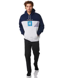 NAVY MELANGE TEAL MENS CLOTHING ADIDAS JUMPERS - EC7279NVYML