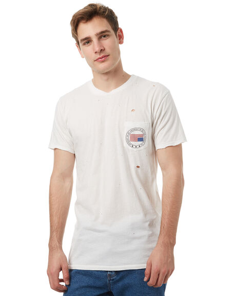 WHITE MENS CLOTHING THE PEOPLE VS TEES - HS17003WHT