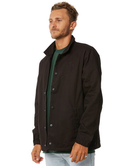 BLACK MENS CLOTHING GLOBE JACKETS - GB01627004BLK