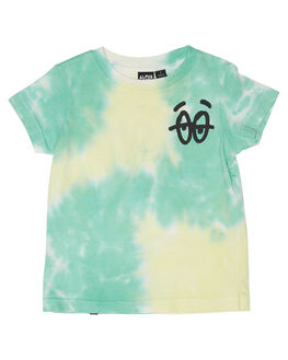 GREEN WASH KIDS TODDLER BOYS ALPHABET SOUP TEES - AS-KTC7148GRWSH