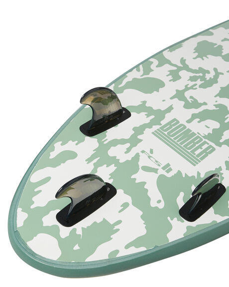 GREEN WHITE BOARDSPORTS SURF SOFTECH SOFTBOARDS - BOMII-SGW-610GRNWH