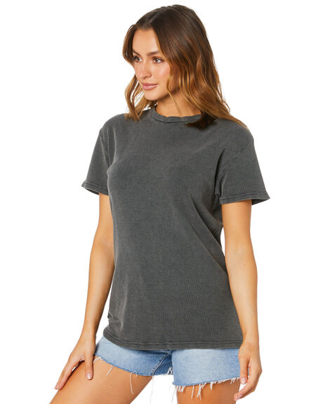 WASHED BLACK WOMENS CLOTHING SILENT THEORY TEES - 6063046WBLK