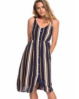 DRESS BLUE STRIPE WOMENS CLOTHING ROXY DRESSES - ERJWD03313-BTK4