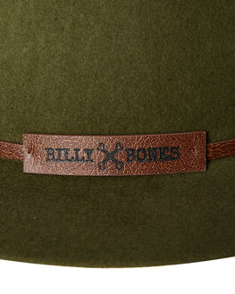 GREEN MENS ACCESSORIES BILLY BONES CLUB HEADWEAR - BBCFED011GRN