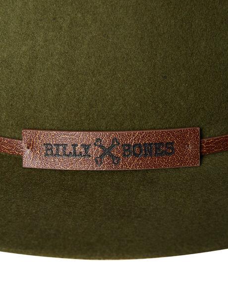 GREEN MENS ACCESSORIES BILLY BONES CLUB HEADWEAR - BBCFED011GRN