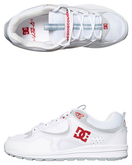 WHITE RED MENS FOOTWEAR DC SHOES SNEAKERS - ADYS100291WRD