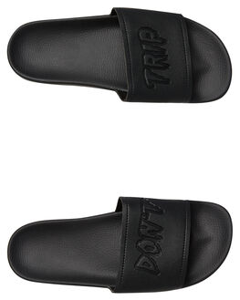BLACK OUT MENS FOOTWEAR VOLCOM SLIDES - V0811904BKO