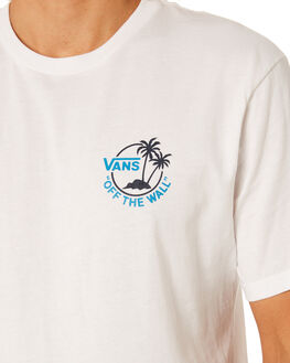 WHITE BLUE JEWEL MENS CLOTHING VANS TEES - VN0A3HOPYPRWHT