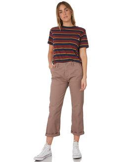 NAVY WOMENS CLOTHING BRIXTON TEES - 02721-NAVY