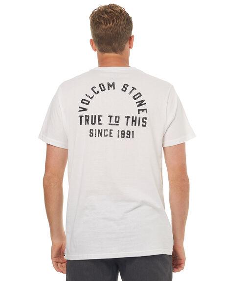 WHITE MENS CLOTHING VOLCOM TEES - A5041774WHT