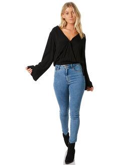 BLACK WOMENS CLOTHING BILLABONG FASHION TOPS - 6581100BLK