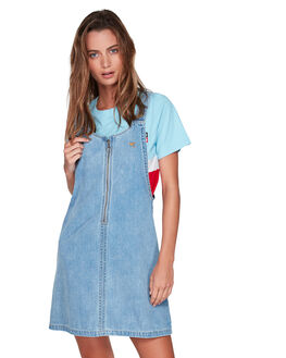 WASHED BLUE WOMENS CLOTHING ELEMENT PLAYSUITS + OVERALLS - EL-294864-WSB