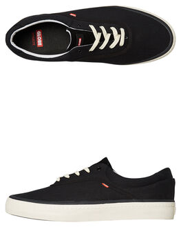 BLACK TWILL MENS FOOTWEAR GLOBE SNEAKERS - GBSPROUT-20329