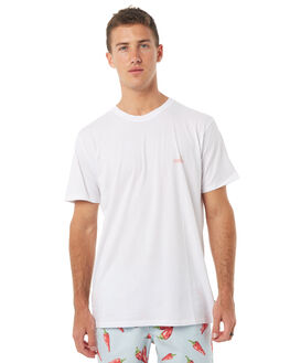 WHITE MENS CLOTHING BARNEY COOLS TEES - 111-MC4WHT