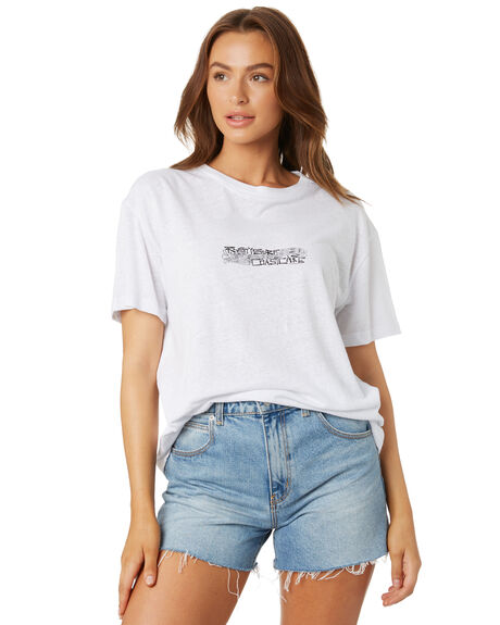 WHITE WOMENS CLOTHING RUSTY TEES - TTL1088WHT