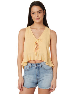YELLOW WOMENS CLOTHING ALL ABOUT EVE FASHION TOPS - 6424044YLW