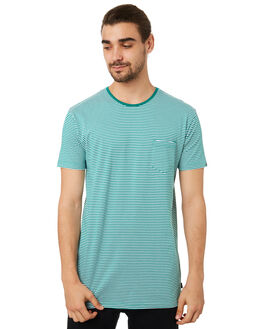 TEAL MENS CLOTHING SILENT THEORY TEES - 40X0009TEAL