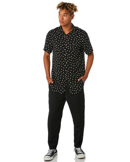 BLACK MENS CLOTHING THE PEOPLE VS PANTS - SS19055BLK