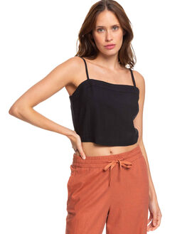ANTHRACITE WOMENS CLOTHING ROXY SINGLETS - ERJWT03365-KVJ0