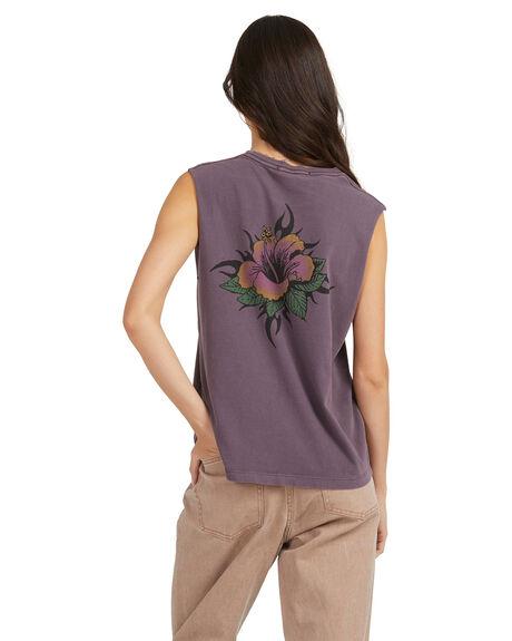PLUM PERFECT WOMENS CLOTHING QUIKSILVER SINGLETS - EQWZT03056-PSN0