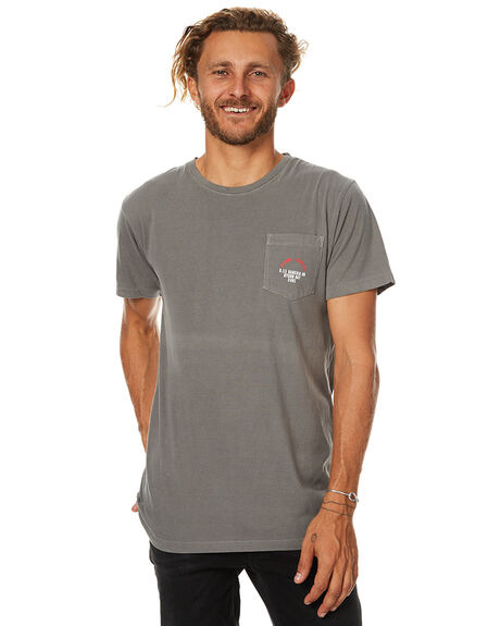 FADED GREY MENS CLOTHING THRILLS TEES - TW7-110GFGRY